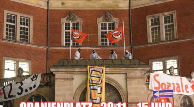 Demonstration gegen die gewaltsame Räumung des sc4a